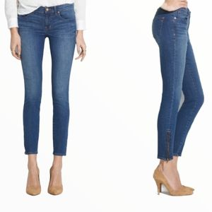 Madewell Skinny Skinny Ankle Zipper Cropped Jeans